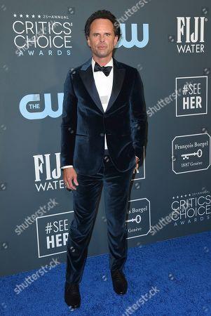 Walton Goggins arrives at the 25th annual Critics' Choice Awards, at the Barker Hangar in Santa Monica, Calif