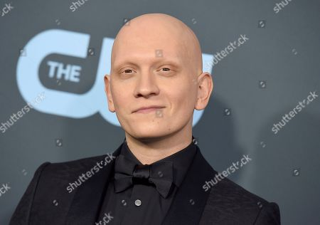 Anthony Carrigan arrives at the 25th annual Critics' Choice Awards, at the Barker Hangar in Santa Monica, Calif