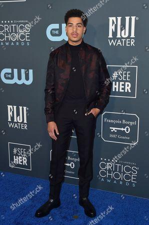 Marcus Scribner arrives at the 25th annual Critics' Choice Awards, at the Barker Hangar in Santa Monica, Calif