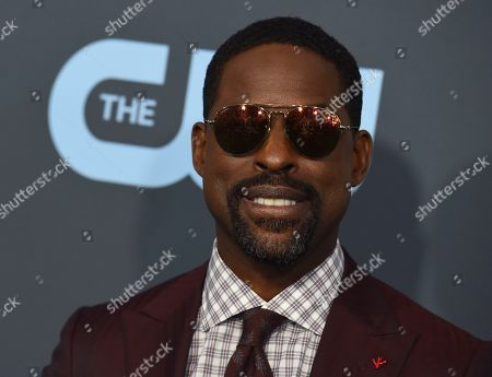 Sterling K. Brown arrives at the 25th annual Critics' Choice Awards, at the Barker Hangar in Santa Monica, Calif