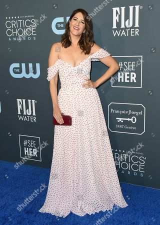D'Arcy Carden arrives at the 25th annual Critics' Choice Awards, at the Barker Hangar in Santa Monica, Calif