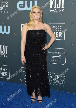 Megan Hilty arrives at the 25th annual Critics' Choice Awards, at the Barker Hangar in Santa Monica, Calif