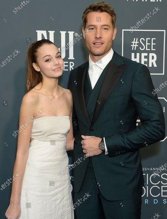 Isabella Hartley and Justin Hartley