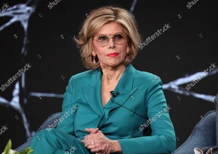 """Christine Baranski attends the """"The Good Fight"""" panel during the CBS TCA Winter 2020 Press Tour at the Langham Huntington Hotel, in Pasadena, Calif"""