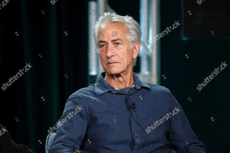 "Stock Picture of David Strathairn speaks at the ""Interrogation"" panel during the CBS TCA Winter 2020 Press Tour at the Langham Huntington Hotel, in Pasadena, Calif"