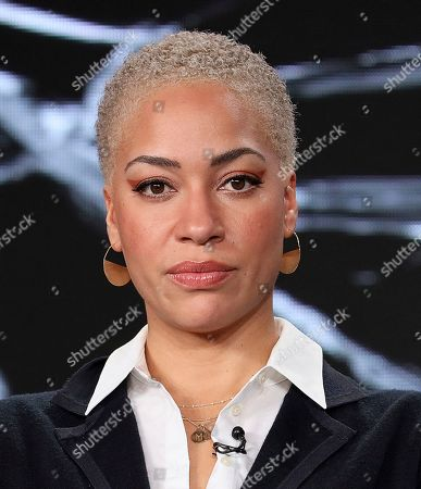"Cush Jumbo, speaks at the ""The Good Fight"" panel during the CBS TCA Winter 2020 Press Tour at the Langham Huntington Hotel, in Pasadena, Calif"