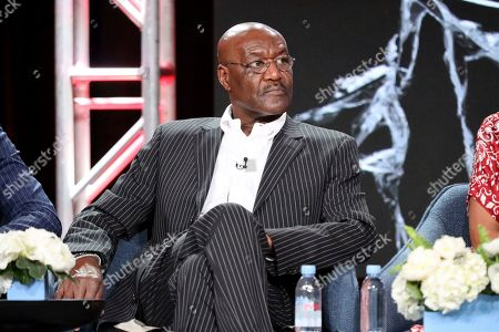 """Delroy Lindo speaks at the """"The Good Fight"""" panel during the CBS TCA Winter 2020 Press Tour at the Langham Huntington Hotel, in Pasadena, Calif"""