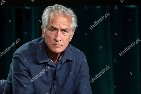 "Stock Image of David Strathairn speaks at the ""Interrogation"" panel during the CBS TCA Winter 2020 Press Tour at the Langham Huntington Hotel, in Pasadena, Calif"