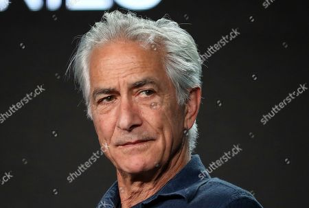 "David Strathairn speaks at the ""Interrogation"" panel during the CBS TCA Winter 2020 Press Tour at the Langham Huntington Hotel, in Pasadena, Calif"