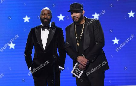 Desus Nice, The Kid Mero. Desus Nice, left, and The Kid Mero present the award for best animated feature at the 25th annual Critics' Choice Awards, at the Barker Hangar in Santa Monica, Calif