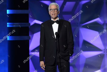 Ted Danson presents the #SeeHer award at the 25th annual Critics' Choice Awards, at the Barker Hangar in Santa Monica, Calif