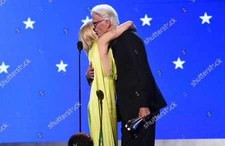 Ted Danson, Kristen Bell. Ted Danson, right, presents the #SeeHer award to Kristen Bell at the 25th annual Critics' Choice Awards, at the Barker Hangar in Santa Monica, Calif