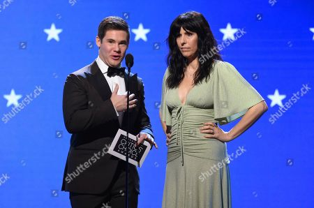 Adam Devine, Edi Patterson. Adam Devine, left, and Edi Patterson present the award for best drama series at the 25th annual Critics' Choice Awards, at the Barker Hangar in Santa Monica, Calif