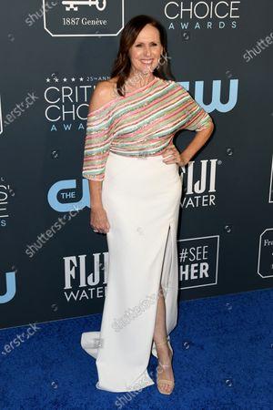 Molly Shannon attends the 25th Critics' Choice Awards  in Santa Monica, California, USA, 12 January 2020.