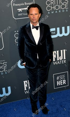 Walton Goggins attends the 25th Critics' Choice Awards in Santa Monica, California, USA, 12 January 2020.