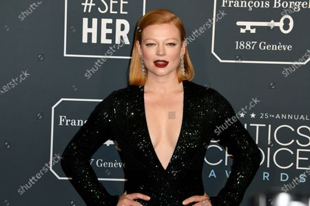 Sarah Snook attends the 25th Critics' Choice Awards in Santa Monica, California, USA, 12 January 2020.