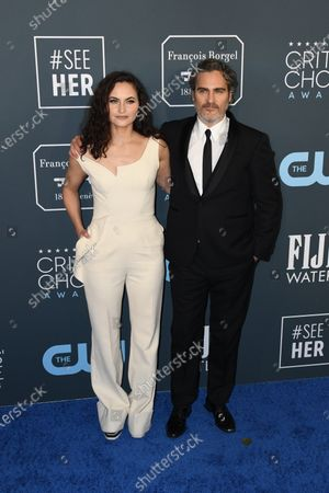 Rain Phoenix (L) and Joaquin Phoenix (R) attends the 25th Critics' Choice Awards in Santa Monica, California, USA, 12 January 2020.