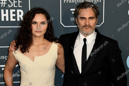 Rain Phoenix (L) and Joaquin Phoenix (R) attends the 25th Critics' Choice Awards in Santa Monica, California, USA, 12 January 2020.