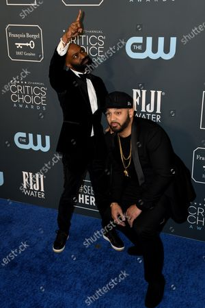 Stock Picture of Desus Nice (L) and The Kid Mero (R) attends the 25th Critics' Choice Awards in Santa Monica, California, USA, 12 January 2020.