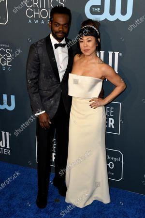 William Jackson Harper (L) and actress Ali Ahn (R) attends the 25th Critics' Choice Awards in Santa Monica, California, USA, 12 January 2020.