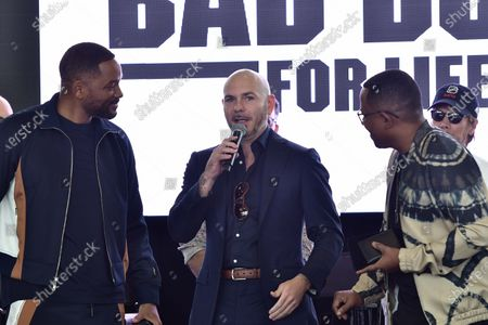 Will Smith, Pitbull and Martin Lawrence attend the 'Bad Boys For Life' Slam Pep Rally