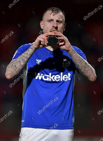 Stock Image of David Wheater of Oldham Athletic