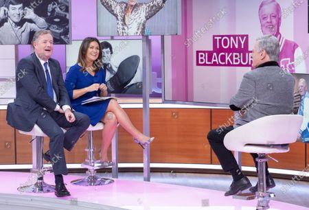 Piers Morgan and Susanna Reid with Tony Blackburn