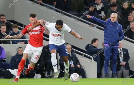 Jose Mourinho head coach of Tottenham Hotspur gestures