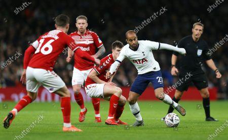 Stock Picture of Lucas Moura of Tottenham Hotspur