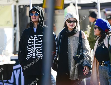 Editorial photo of Eric Unger and Stella Hudgens out and about, Los Angeles, USA - 12 Jan 2020