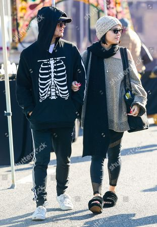 Editorial image of Eric Unger and Stella Hudgens out and about, Los Angeles, USA - 12 Jan 2020