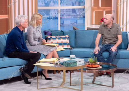 Phillip Schofield and Holly Willoughby with Karl Pilkington