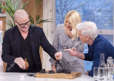 Phillip Schofield and Holly Willoughby with Heston Blumenthal
