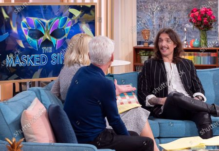 Phillip Schofield and Holly Willoughby with Justin Hawkins