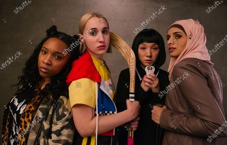 Treshelle Edmond as Soapy, Harley Quinn Smith as Milly, Alice Wen as Shan Yu and Aparna Brielle as Jihad