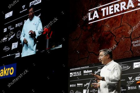 Spanish chef Joan Roca of the restaurant El Celler de Can Roca presents 'Sustainable Cuisine' during the 18th 'Madrid Fusion 2020' International Gastronomy Fair in Madrid, Spain, 13 January 2020. The gastronomic event, under the slogan 'Essential cuisine, thoughtful simplicity', runs from 13 to 15 January.