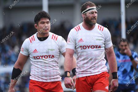 Editorial picture of Yamaha Jubilo v Toyota Verblitz, Rugby Top League match, Yamaha Stadium, Shizuoka, Japan - 12 Jan 2020