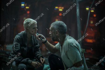 Kristen Stewart as Norah Price and Vincent Cassel as Captain Lucien
