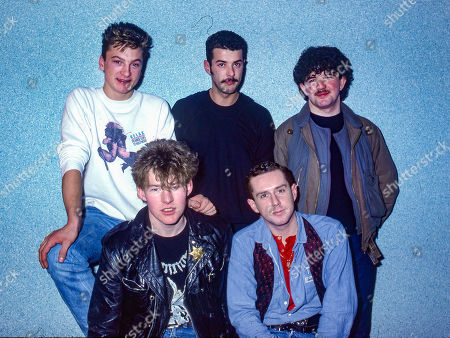 Frankie Goes To Hollywood - clockwise from top: Mark O'Toole, Paul Rutherford, Peter Gill, Holly Johnson and Brian Nash