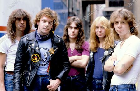 Iron Maiden - Dennis Stratton, Paul Di'Anno, Steve Harris, Dave Murray and Clive Burr