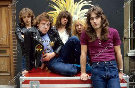 Iron Maiden - Clive Burr, Paul Di'Anno, Dennis Stratton, Dave Murray and Steve Harris