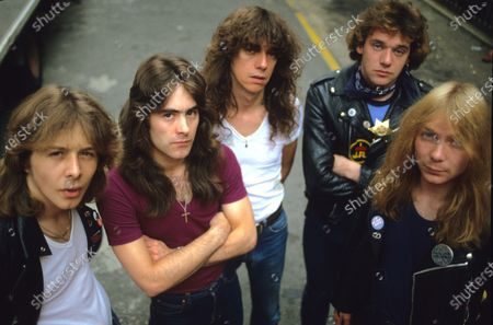 Iron Maiden - Clive Burr, Steve Harris, Dennis Stratton, Paul Di'Anno and Dave Murray