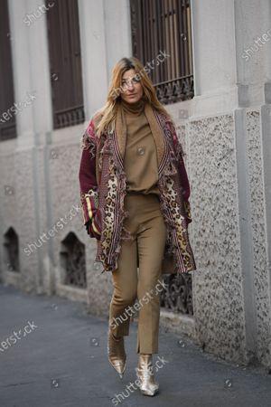 Editorial photo of Street Style, Autumn Winter 2020, Milan Fashion Week Men's, Italy - 12 Jan 2020