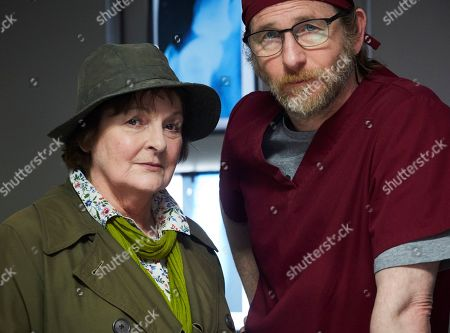 Stock Image of Brenda Blethyn as Vera and Paul Kaye as Malcolm Donahue.