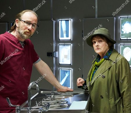 Brenda Blethyn as Vera and Paul Kaye as Malcolm Donahue.