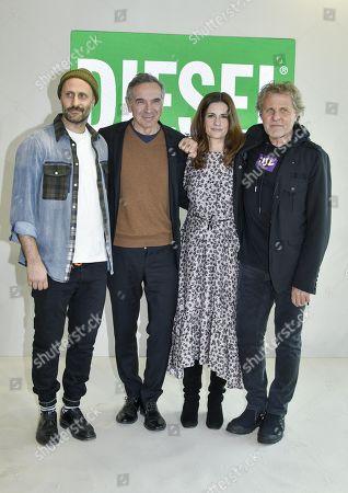 Andrea Rosso, Carlo Capasa, Livia Giuggioli and Renzo Rosso