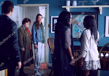 Brenda Blethyn as Vera, Emily Stott as Georgia Hay, Jacqueline Boatswain as Sarah Ashers and Leah Walker as Jasmine Ashers.