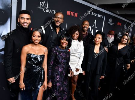 Stock Photo of Matthew Law, Bresha Webb, Tyler Perry, Cicely Tyson, Crystal Fox, and Phylicia Rashad