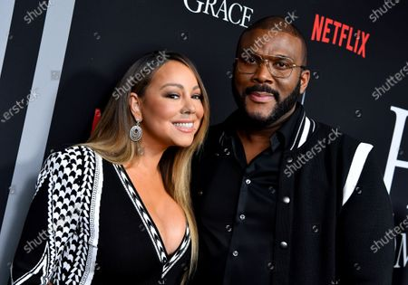 Stock Picture of Mariah Carey and Tyler Perry