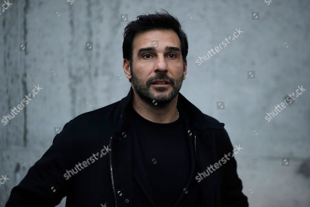 Italian actor Edoardo Leo arrives for the Armani men's Fall-Winter 2020/21 collection, that was presented in Milan, Italy